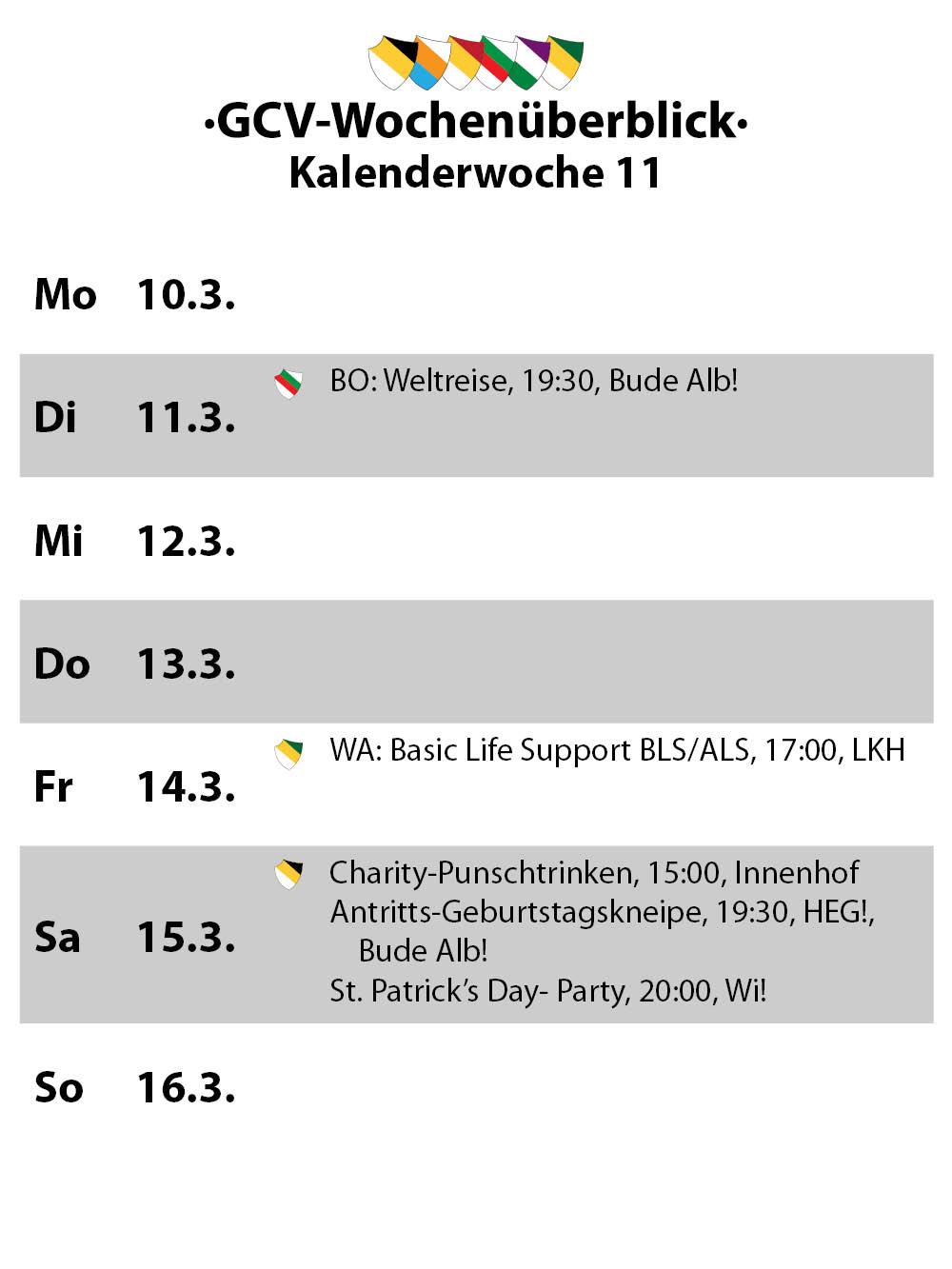 Wochenüberblick KW11