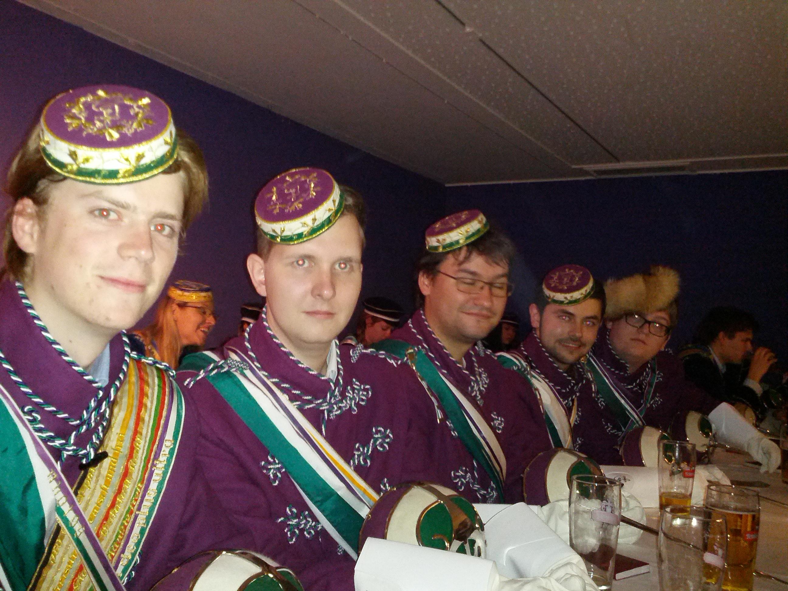 Die Delegation der Erasmus am 52. Stiftungsfest der Albertina. Nicht im Bild Bbr. Dexter
